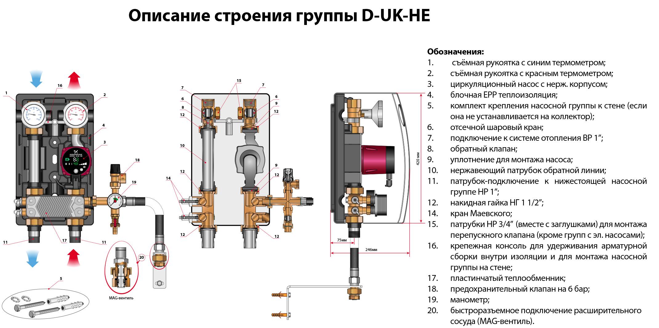 Насосная группа meibes uk 1 с теплообменником Уплотнения теплообменника Sondex S62AE Саров
